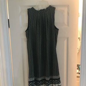 Green and Blue Patterned H&M Dress